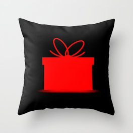 Present In A Red Box Throw Pillow