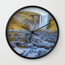 Skogafoss. Wall Clock