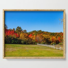 Fall in New England. USA. Serving Tray