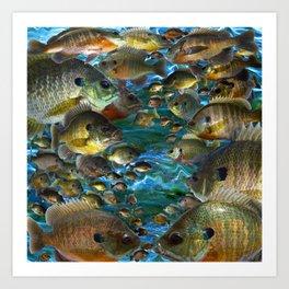 Bluegill Camo Art Print