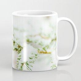 Spruce branch with snow veil Coffee Mug