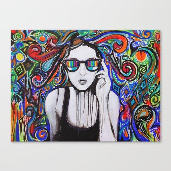 Think in Technicolor Canvas Print