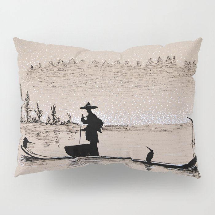 Sunrise Bird Fishing Pillow Sham