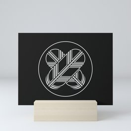 Kikuchi Clan · White Mon · Outlined Mini Art Print