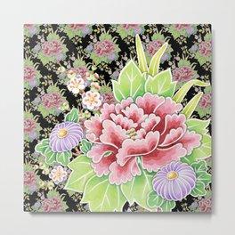 Kimono Bouquet Chintz Ditsy Metal Print