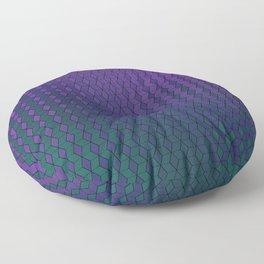 Gradient cube pattern cold Floor Pillow