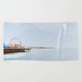 santa monica ii / california Beach Towel