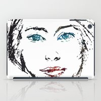no face iPad Cases featuring face by Artemio Studio