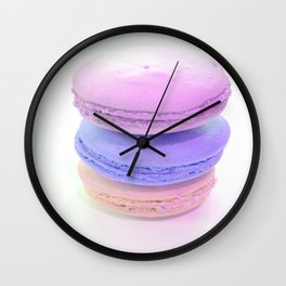 Macaroons Pink Peach lavender Wall Clock