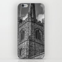 medieval iPhone & iPod Skins featuring Medieval Church by David Pyatt
