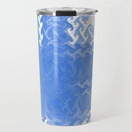 Blue fire Travel Mug