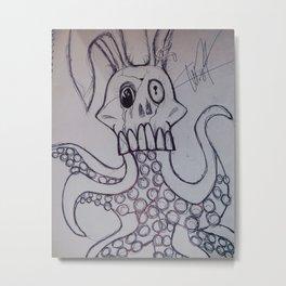 Trippy Rabbit Metal Print