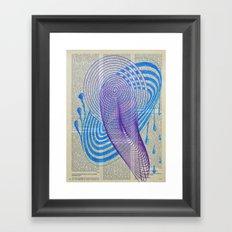 Vintage Paper Art - Drops Framed Art Print