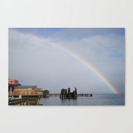 A Rainbow in Port Townsend Canvas Print