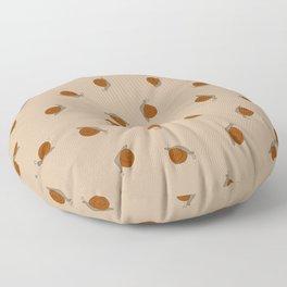 Snails - Beige Floor Pillow