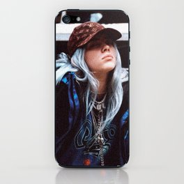 Billie Eilish with a LV hat iPhone Skin