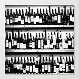 Wine Bottles in Black And White #society6 #decor Canvas Print