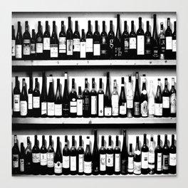 Wine Bottles in Black And White #decor #society6 #buyart Canvas Print