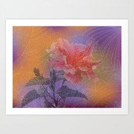 zen pattern hibiscus Art Print