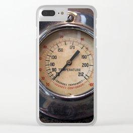 Heat - vintage industrial temperature gauge Clear iPhone Case