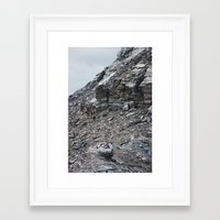 hiking Framed Art Prints featuring Hiking by Mary Webb Photo