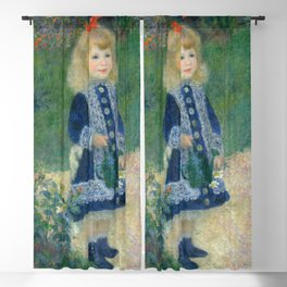 Auguste Renoir A Girl with a Watering Can 1876 Painting Blackout Curtain
