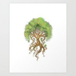 Ygdrasil the tree of life Art Print