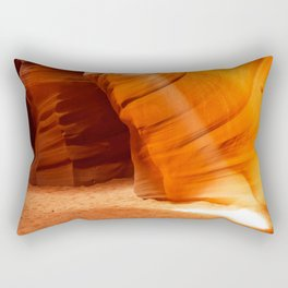 Beam Of Light Antelope Canyon Arizona Landscape Rectangular Pillow