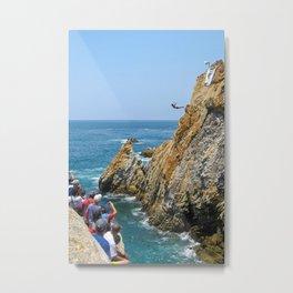 La Quebrada Cliff Divers  Metal Print
