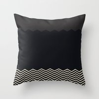 chevron Throw Pillows featuring Chevron by Georgiana Paraschiv