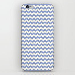 Blue & Cream Summer Chevron Pattern iPhone Skin