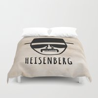 heisenberg Duvet Covers featuring Heisenberg! by Hannah Ison