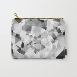 geometric polygon abstract pattern in black and white Carry-All Pouch