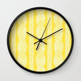 Cable Row Yellow Wall Clock
