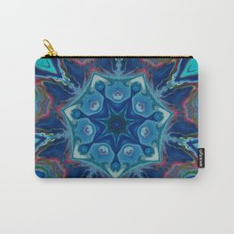 Topaz Soul Mandala Style Design - Fluid Nature Carry-All Pouch