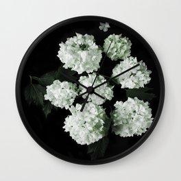 White lilac 5 Wall Clock