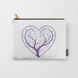 Ultraviolet Love Grows Carry-All Pouch
