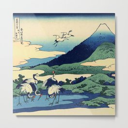 Hokusai -36 views of the Fuji  14 Umezawa in Sagami province Metal Print