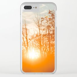 Sunset Glow 1 Clear iPhone Case