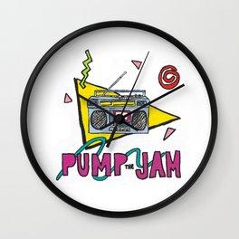 pump the jam Wall Clock