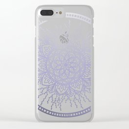 Lavender Nature Mandala Clear iPhone Case