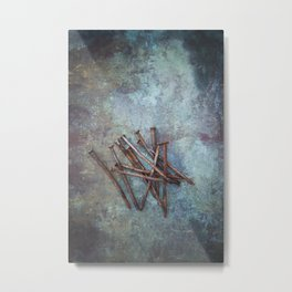 a bunch of nails Metal Print