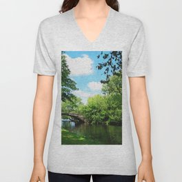 Boston, Panorama Unisex V-Neck