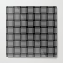 Large Gray Weave Metal Print