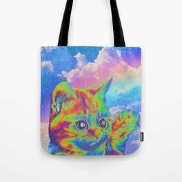 Rainbow Kitten Tote Bag