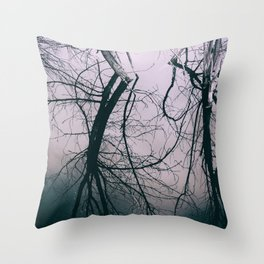 Tree in Cloud Reflection Throw Pillow
