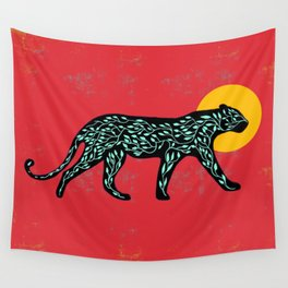 Black cheetah Wall Tapestry