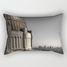 Griffith Park Observatory with Downtown LA Skyline Rectangular Pillow