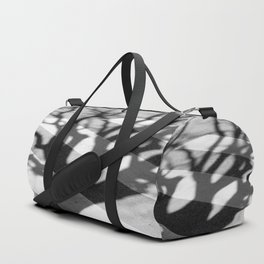 zebra crossing, tree shadow Duffle Bag