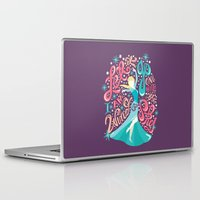 risa rodil Laptop & iPad Skins featuring Snow Queen by Risa Rodil